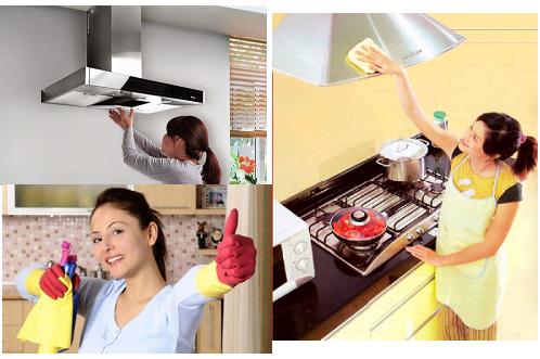 Việc vệ sinh máy hút mùi trở nên dễ dàng, thuận tiện