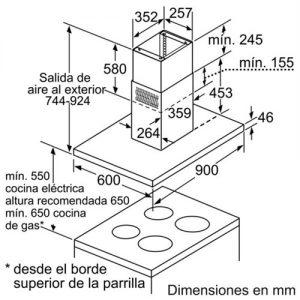 Kích thước Máy Hút Mùi Độc Lập Bosch DIB091K50