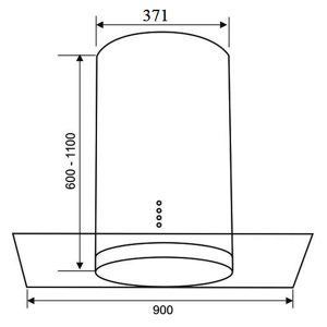 Kích thước của Máy Hút Mùi Faster FS-2288IR