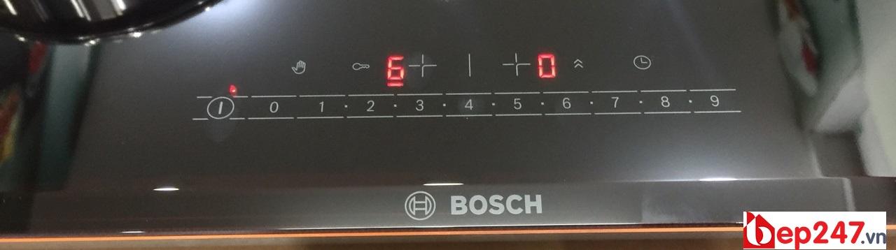 Bếp Từ Bosch PPI-82560MS có thiết kế bảng điều chỉnh độ nấu đơn giản dễ dùng