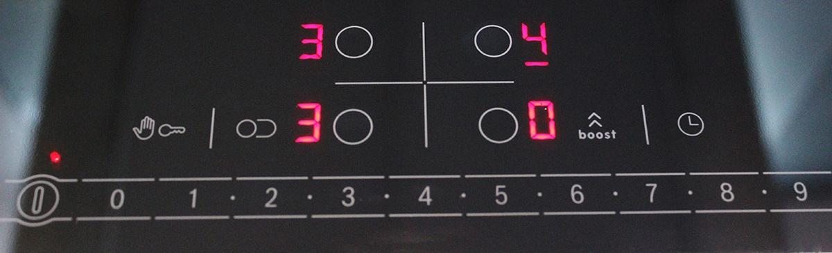 Bảng điều chỉnh từng mức độ của Bếp Điện Từ Bosch PIC645F17E