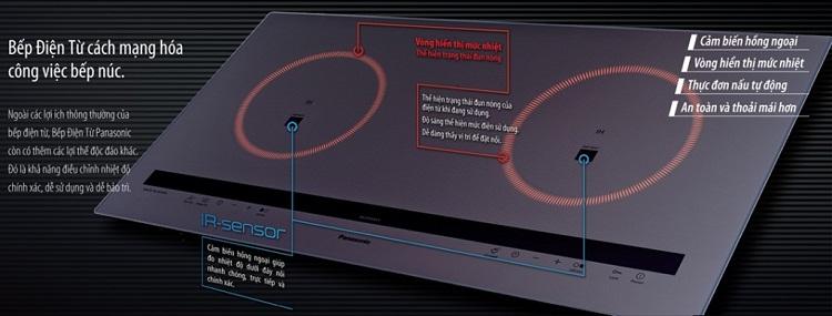 Bếp từ Panasonic KY-C227D có nhiều tính năng vượt trội