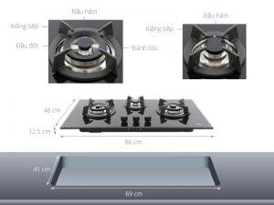 Các chi tiết của Bếp từ Teka GT LUX 86 3G AI AL