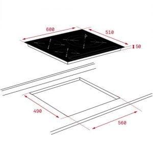 Thông số lắp đặt của Bếp từ Teka IZ 6320 WHITE