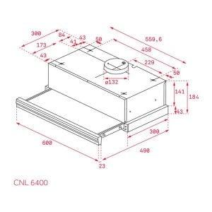Kích thước lắp đặt của máy hút mùi của CNL 6400