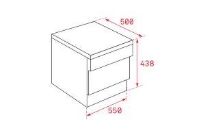Kích thước Máy rửa chén bát Teka LP2 140