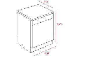 Kích thước Máy rửa chén bát Teka LP8 820