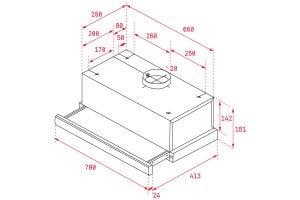 Thông số lắp đặt của máy hút mùi TL 6420