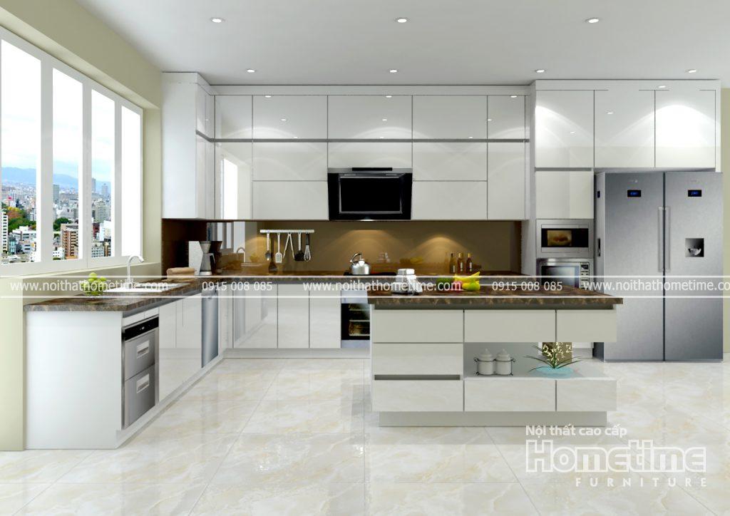 Kích thước hợp lý của tủ bếp