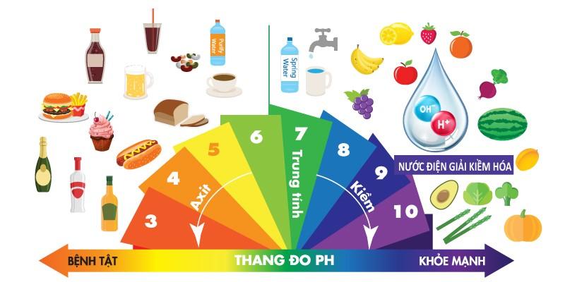 Thang độ pH đo ion kiềm trong thức ăn